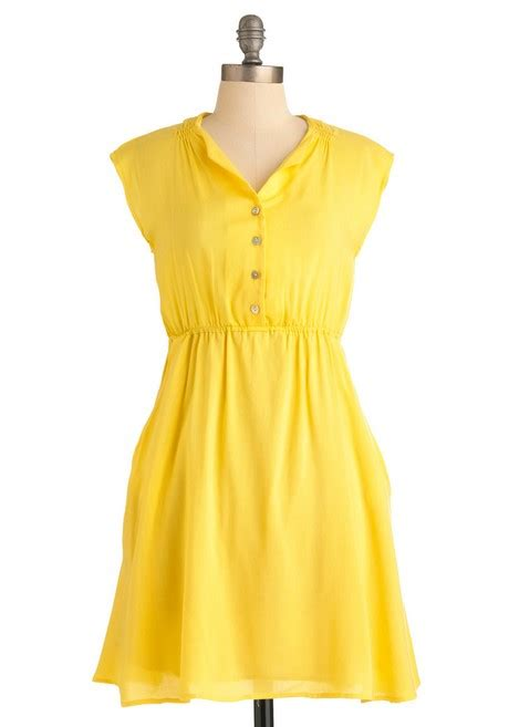 Yellow dress casual