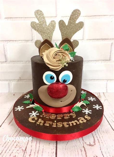 reindeer cake crafty food inspiration christmas cake