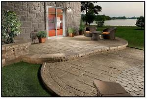 Concrete and paver patio designs all home design ideas for Concrete paver patio ideas