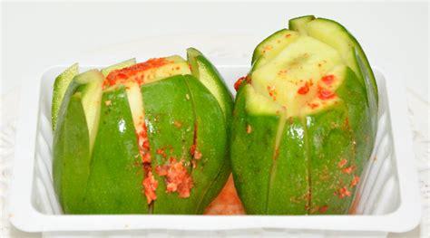 cuisine jaune et verte mangue réunion mangue verte piment de la réunion