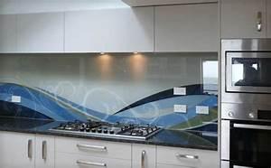 panneau mural cuisine interesting motivant cuisine am nag With carrelage adhesif salle de bain avec led light costume