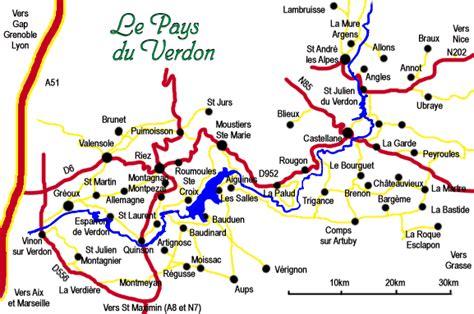 chambres hotes var carte du verdon le pays du verdon le verdon provence web