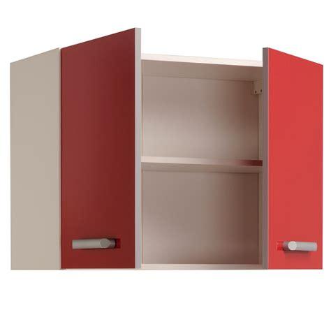 portes cuisine meuble haut de cuisine contemporain 2 portes 80 cm blanc