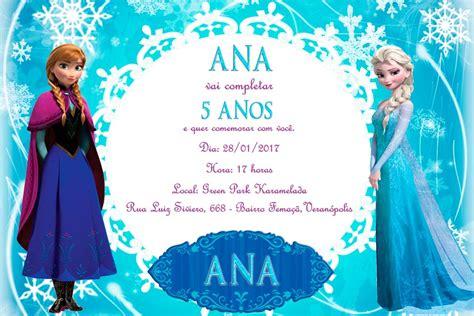Convite personalizado Frozen modelo 8 - Personalize Convites