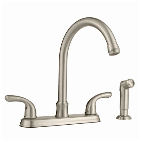 glacier bay kitchen faucets parts glacier bay builders hi arc kitchen faucet with joss sprayer in brushed nickel pppab avi depot