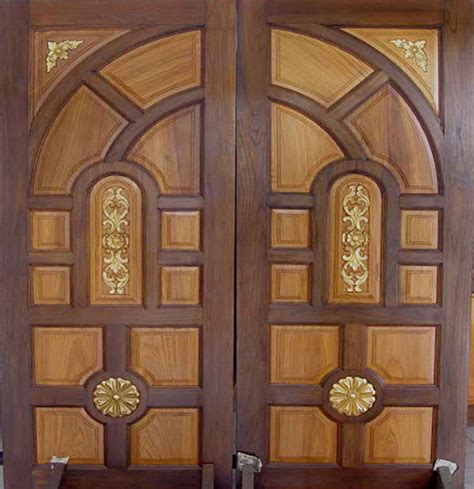 Double Front Door Designs Wood Kerala Special Gallery