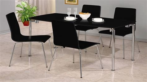 small black dining table set small black high gloss dining set 4 chairs homegenies