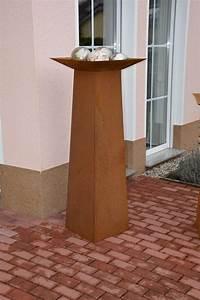 Dekosäule Mit Schale : pflanzs ule dekos ule blumens ule 37x37x140 cm corten edelrost ~ Sanjose-hotels-ca.com Haus und Dekorationen