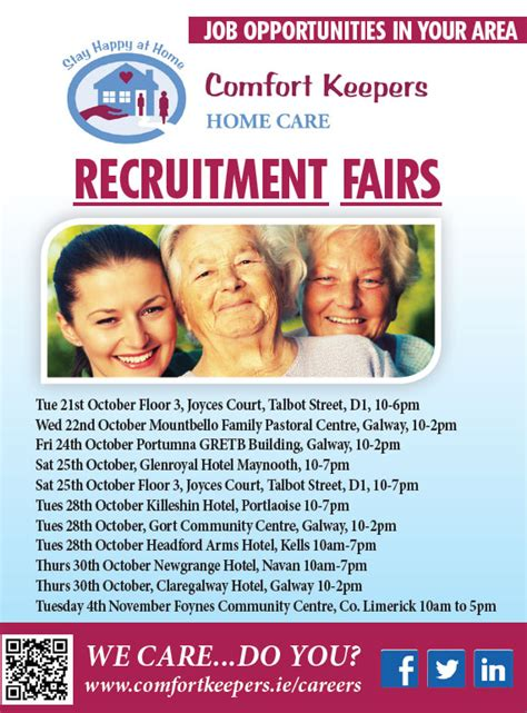 comfort keepers salary comfort keepers plan a series of recruitment open days
