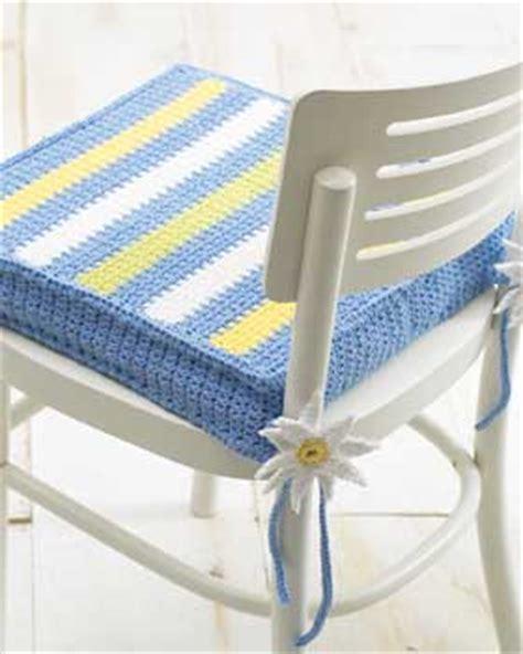 striped chair pad crochet pattern favecrafts