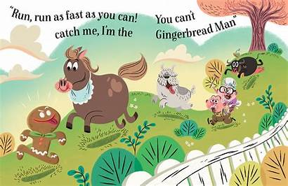 Gingerbread Fairy Tale Illustrations Much Fun Damant