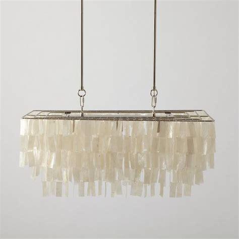 west elm large rectangular hanging capiz chandelie copy