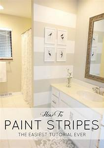 livelovediy how to paint stripes the easiest tutorial ever With kitchen colors with white cabinets with birds in flight wall art