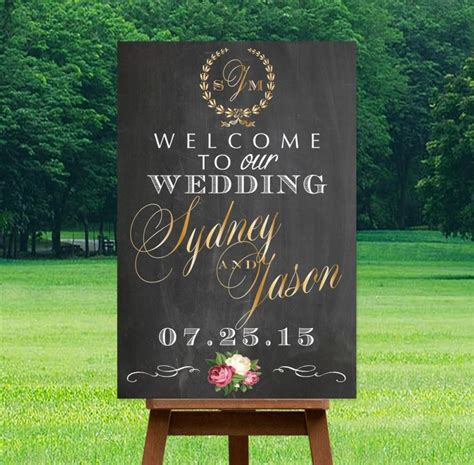 printable wedding  sign personalized sign digital