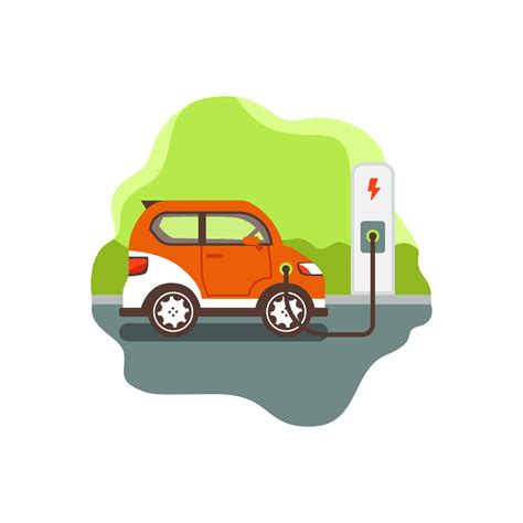 Electric Car Search by Electric Car Parking And Charging Free Vector