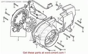 Honda Cb125t England Left Crankcase Cover