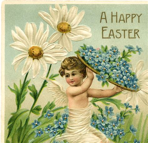 Adorable Easter Cherub Image The Graphics Fairy