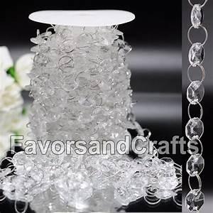 Ft wedding acrylic garland diamond crystal bead