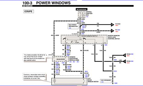 94 Mustang Power Window Wiring Diagram by I A 2001 V6 Mustang Both Power Windows Stopped