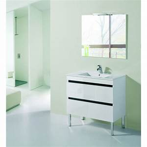 Meuble Tiroir Salle De Bain : meuble de salle de bain sur pieds mu 2 tiroirs robinet and co meuble sur pieds ~ Teatrodelosmanantiales.com Idées de Décoration