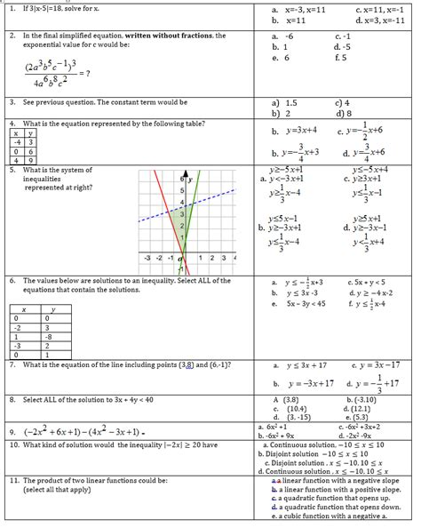 section 1 reinforcement how solutions form answers multiple answer math tests educationrealist
