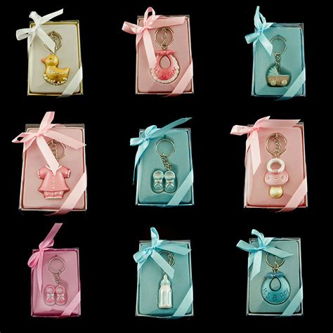 baby shower keychains pink blue baby shower key chain favor lot of 6 pieces