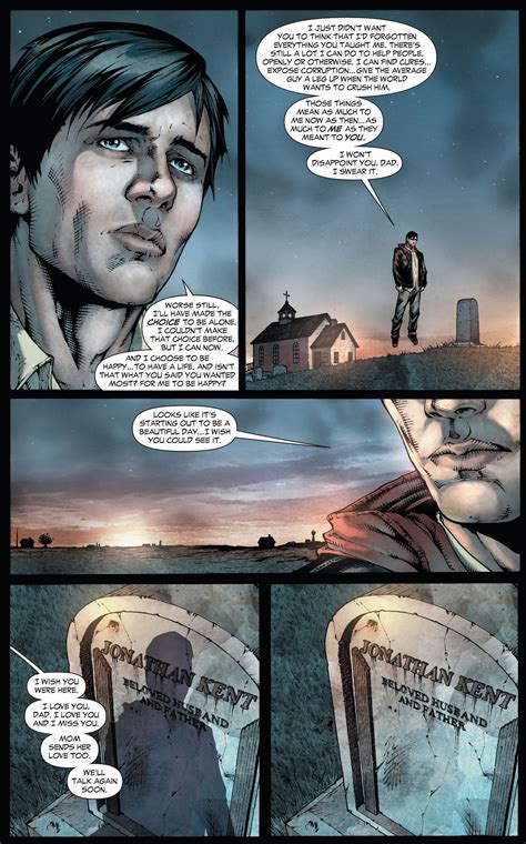 clark kent visits  fathers grave earth  comicnewbies