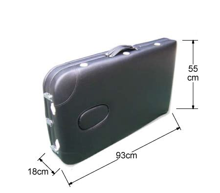 portable massage table carry bag genki portable 3 section aluminium massage table chair bed