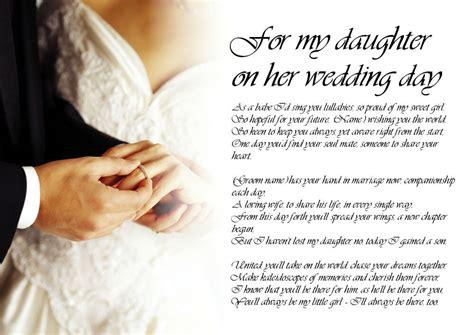 personalised poem poetry  bride daughter  dad  wedding day laminated ebay