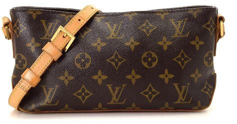 lyst louis vuitton trotteur monogram crossbody bag vintage  brown
