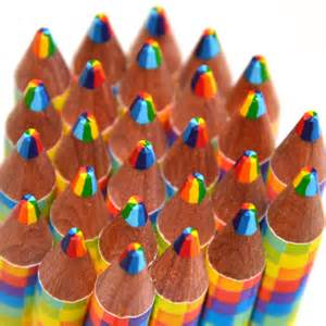 personalized favor bags rainbow graphite combo pencil in colored pencils