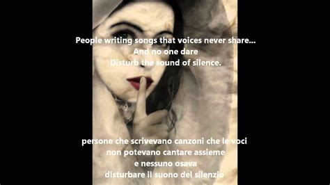 the sound of silence testo in italiano the sound of silence nouela testo e traduzione in