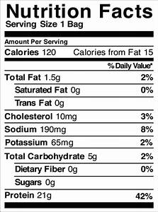 nutrition facts table template - recipes archives fix body group