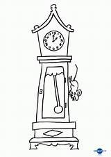 Dickory Clock sketch template