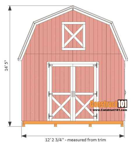 Free Shed Blueprints 12x12 by 12x12 Barn Shed Plans With Overhang Free Pdf