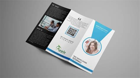 How To Set Up And Create A Tri Fold How To Create Tri Fold Brochure Template Design For
