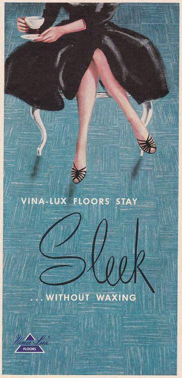 vina lux floors ad  carteles antiguos carteles