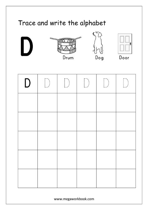 english worksheets alphabet writing capital