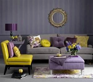 les papiers peints design en 80 photos magnifiques With tapis moderne avec canapé lit violet