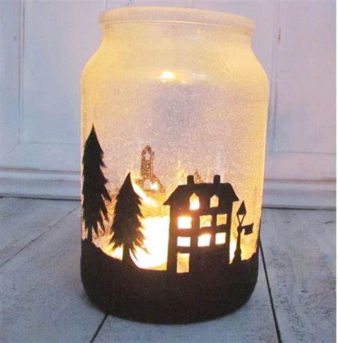 christmas town diy jar candle allfreechristmascraftscom