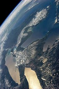 Michigan Great Lakes From Space