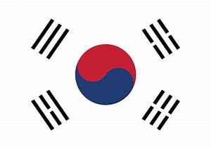 South Korea clipart South Korea Flag Clipart