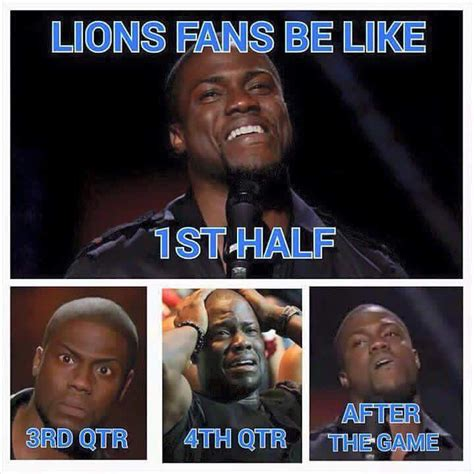 Kevin Hart Cowboys Meme - lions fans know all too well wdvd fm