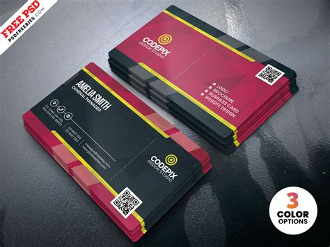 business card template ready to print print ready business card psd template psdfreebies
