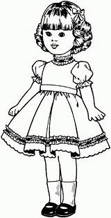 Doll Coloring Pages Printable Printables Toys sketch template
