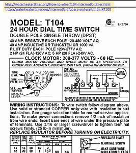 Wiring A T-105  104 120  240 Volt Timer - Diy