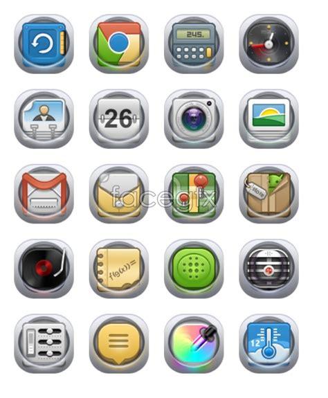 translucent phone desktop icons