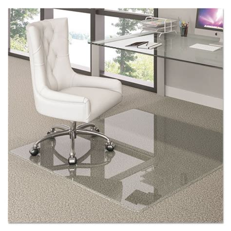 premium glass chair mat 36 x 46 clear lexicon