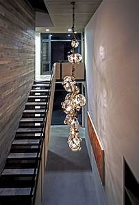 Modern hanging lights staircase contemporary with rustic