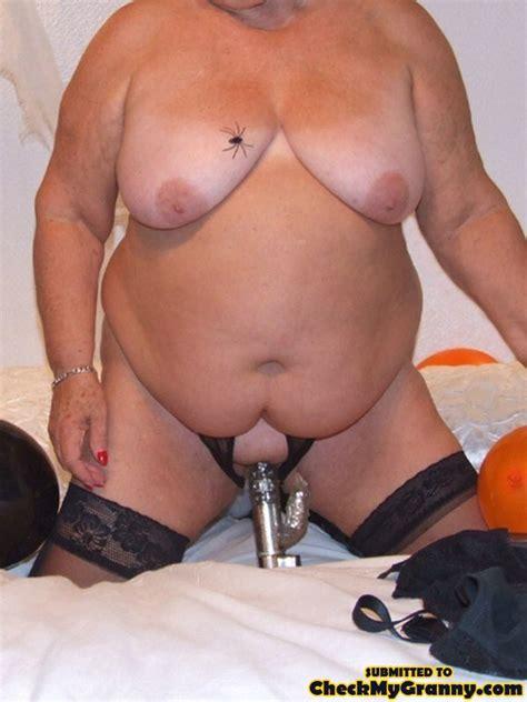 Black Stay Ups Dressed Fat Granny Spreading Xxx Dessert